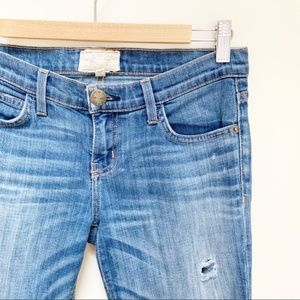 CURRENT ELLIOTT THE ROLLED SKINNY WAGER JEANS 26